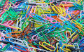 Colorful paper clips Royalty Free Stock Photo