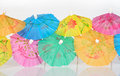 Colorful paper cocktail umbrella Royalty Free Stock Photo