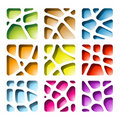 Colorful Paper Cutouts Stock Images