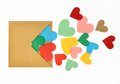 Colorful paper heart shape Royalty Free Stock Photo