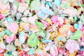 Colorful paper pet litter as background close up Royalty Free Stock Photos