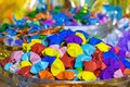 Colorful paper stars from Thailand.