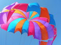 Colorful Parachute Background Royalty Free Stock Photography