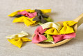 Colorful pasta still life Royalty Free Stock Photo