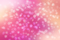 Colorful pastel abstract background with snow flakes falling. Royalty Free Stock Photo
