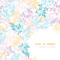 Colorful pastel branches corner seamless pattern vector horizontal background with hand drawn floral motif Royalty Free Stock Photos