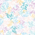 Colorful pastel branches seamless pattern vector background with hand drawn floral motif Stock Photos