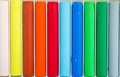 Colorful pastel crayons close up of can be used for background Royalty Free Stock Image