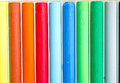 Colorful pastel crayons close up of can be used for background Royalty Free Stock Photo