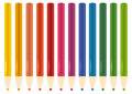 Colorful Pastel, Crayons set Royalty Free Stock Photo