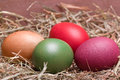 Colorful pastel easter eggs Stock Photo