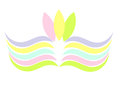 Colorful pastel symbol symbolic sign or emblem illustration Royalty Free Stock Photography