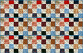 Colorful patchwork quilt handcrafted pattern Royalty Free Stock Images