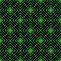 Colorful pattern abstract background texture from different figures on a blackly green Stock Photo