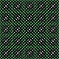 Colorful pattern abstract background texture from different figures on a blackly green Stock Images