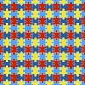 Autism Awareness Seamless Pattern