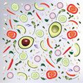 Colorful pattern Raw Food Background Vector Illustration Royalty Free Stock Photo