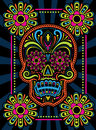 Colorful patterned candy skull Royalty Free Stock Image