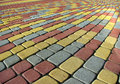 Colorful pavement Stock Photography