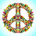 Colorful Peace Royalty Free Stock Images