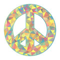 Colorful peace symbol on white background illustration of Royalty Free Stock Photography