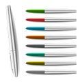 Colorful pen illustration Royalty Free Stock Photo