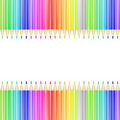 Colorful pencil card Royalty Free Stock Photos