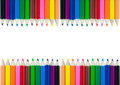 Colorful pencil color frame border background Royalty Free Stock Photo