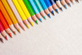 Colorful pencil crayons Royalty Free Stock Photos
