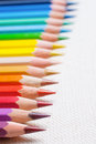 Colorful pencil crayons Stock Image