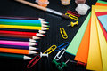 Colorful pencil crayons back to school Royalty Free Stock Photo