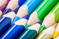Colorful pencils closeup macro shot Stock Photography