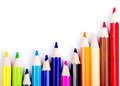 Colorful pencils concept all one team work concept Stock Photography