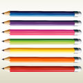 Colorful pencils illustration of the on a white background Stock Photos