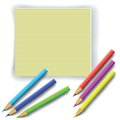 Colorful pencils illustration with for your design Royalty Free Stock Photos