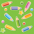 Colorful pencils seamless pattern Royalty Free Stock Images