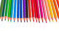 Colorful pencils with traces Royalty Free Stock Photo