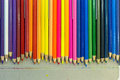 Colorful pencils use a pencil to paint a painting or drawing Stock Photography