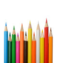Colorful pencils on white background isolated Stock Images