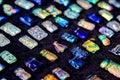 Colorful pendants on display Royalty Free Stock Photo