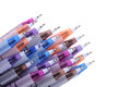 Colorful pens ball on white background Royalty Free Stock Photo
