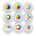 Colorful people children employees icons collection set vect vector graphic Royalty Free Stock Photos