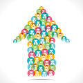 Colorful people icon design arrow creative Stock Photos
