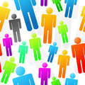 Colorful People Seamless Background Stock Image