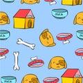 Colorful pet dog pattern style