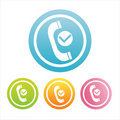Colorful phone signs Royalty Free Stock Images
