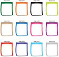 Colorful photo frames for easy use populate with your own images and boby images Royalty Free Stock Images