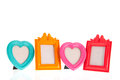 Colorful photo frames Royalty Free Stock Photo