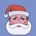 Colorful  picture with santa claus Stock Images