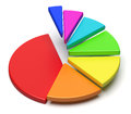 Colorful pie chart in shape of ascending stairs creative abstract business statistics financial analysis success growth and Stock Image